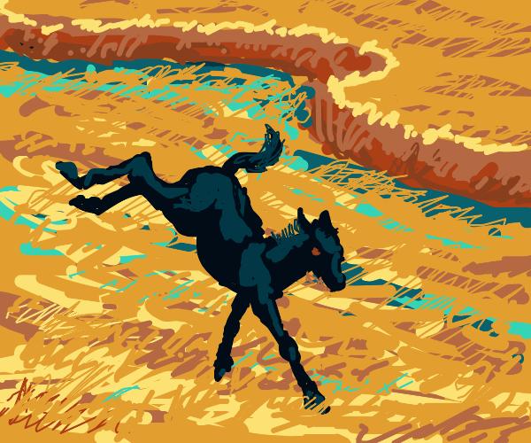 Demonic stallion in the underworld