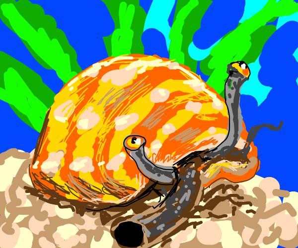A seasick snail