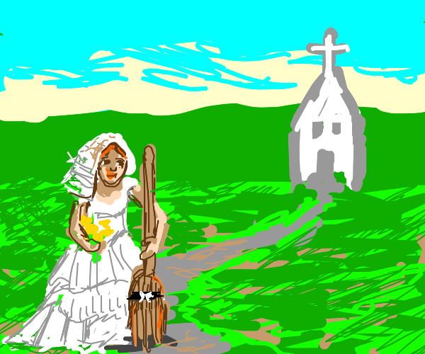 The bride and broom.