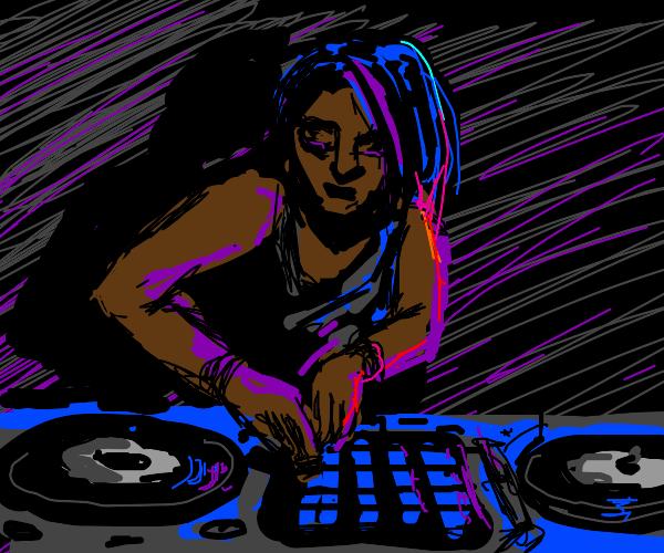 awesome emo-girl DJ