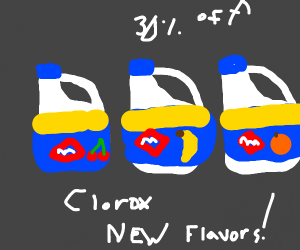 Clorox, on sale. NOW WITH 3 NEW FLAVORS!! :D