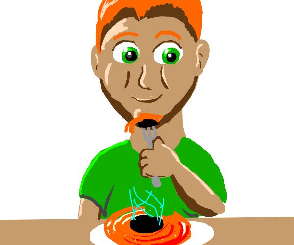 Man eats black hole
