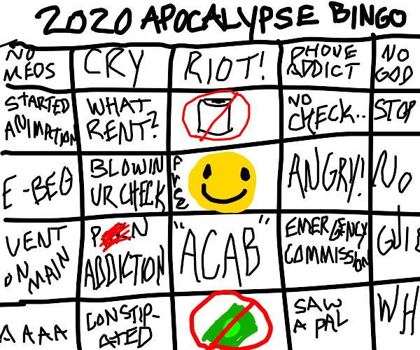 playin 2020 apocalypse bingo