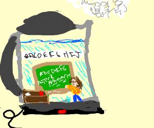 Teacher in a kettle