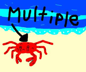 Multiple crabs