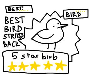 Five star stick figure bird