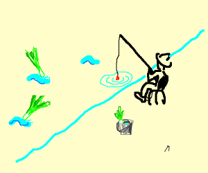 Fishing for leeks and/or celery