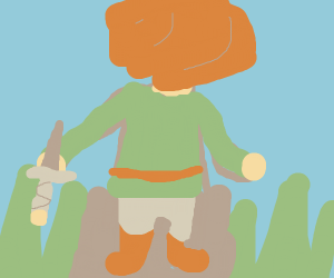 link looking off into the distance