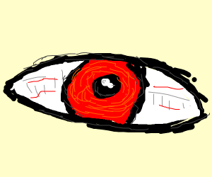 Face with red eyes