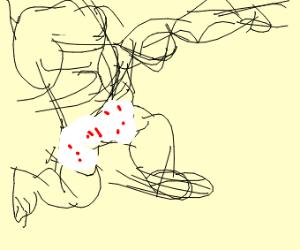 Muscular man ggx underwear
