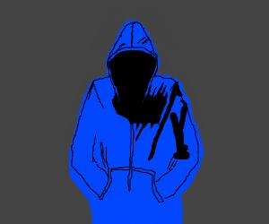 Sneaky guy in a hoodie