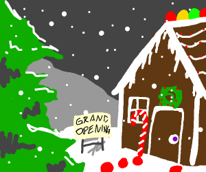 grand opening of the gingerbread house