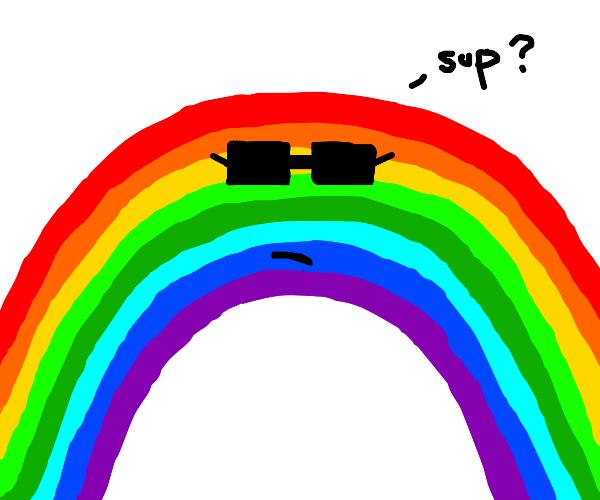 a very cool rainbow