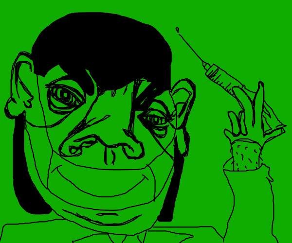 Green doctor is giving you an injection