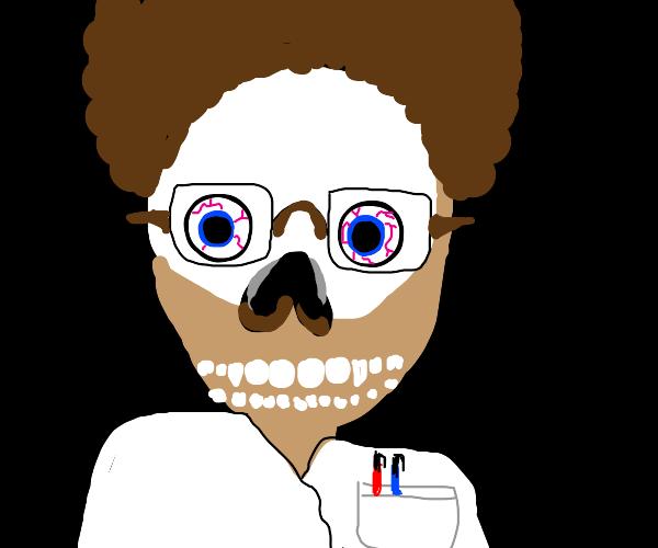 Half black chemist, half skeleton