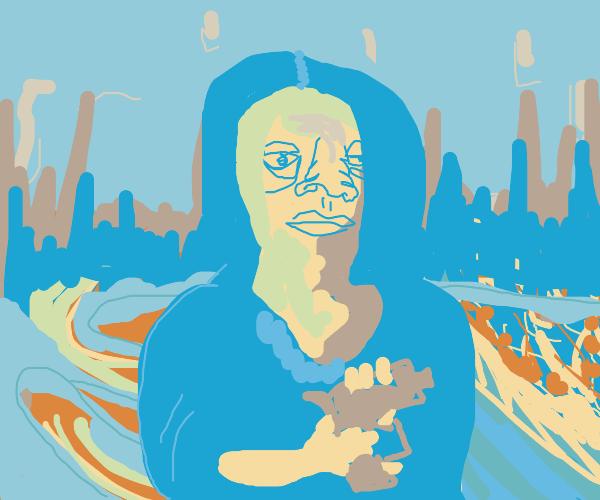 The Mona Lisa with a gun
