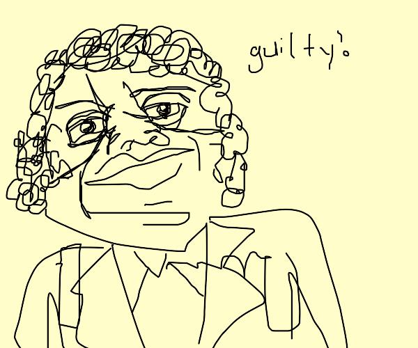 Weird al Yankovic being guilty in court