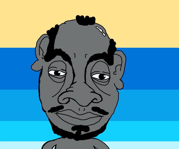 Man With Very Detailed Cartoon Face Drawception