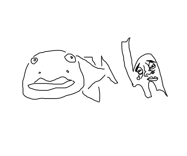 amazing fish causes the letter h to cry