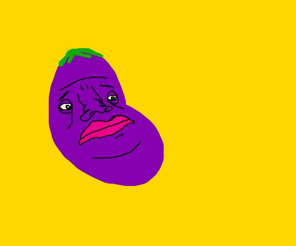 Sad eggplant