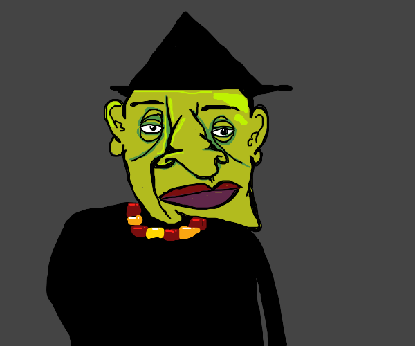 Picasso Draws a Witch