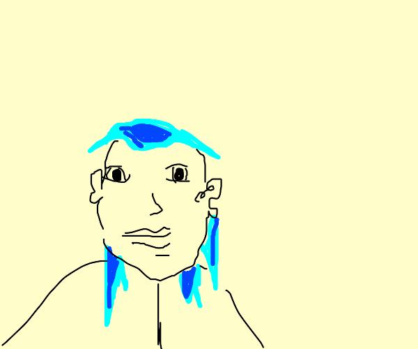 blue hair anime girl