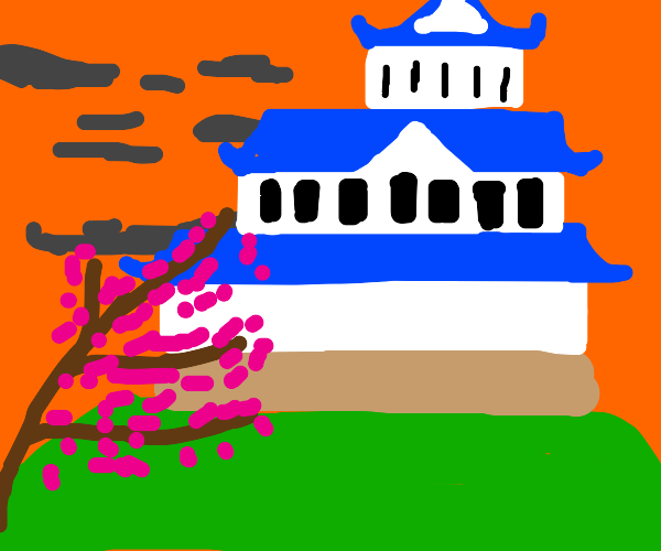 Drawing of a castle
