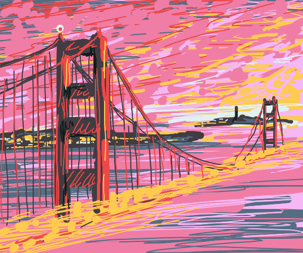Gorgeous SF Bridge portrait. Flames!
