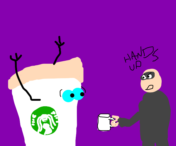 Getting coffee mugged