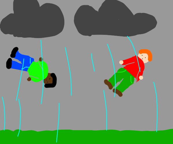 IT'S RAINING MEN! HALLELUJAH!
