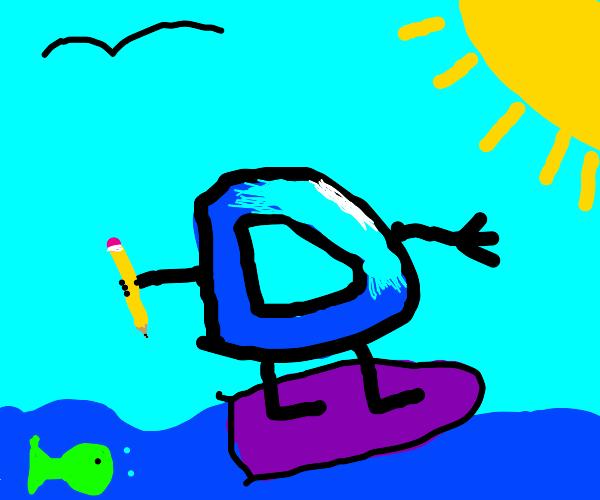 drawception logo surfing