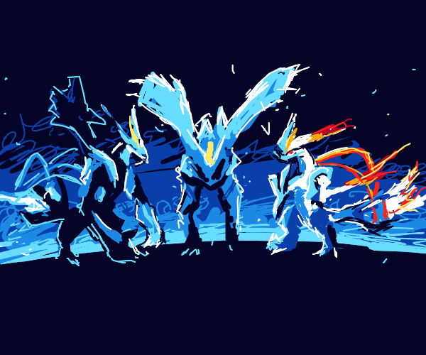 Zekrom, Kyurem, and Reshiram (Pokemon)