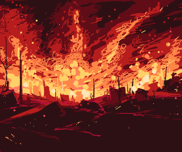 Nuclear fallout after war