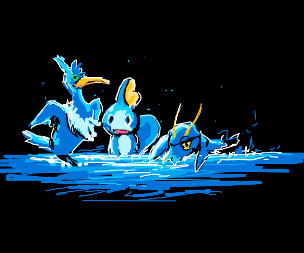 New generation of water-type Pokemons