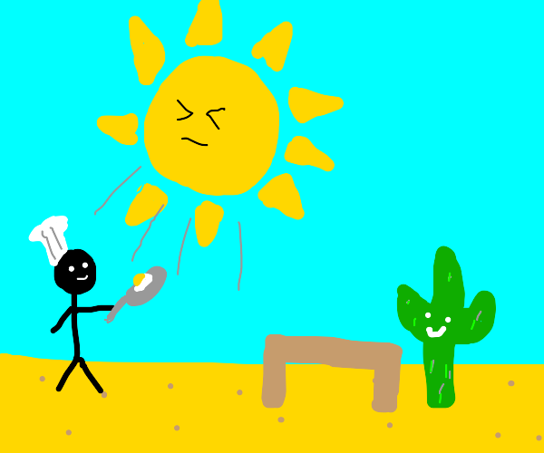 chef using sun to heat food in desert for cac