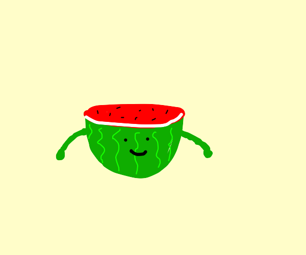 Watermelon with arms