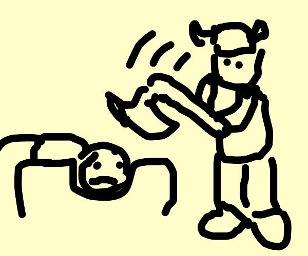 Viking Does A Beheading