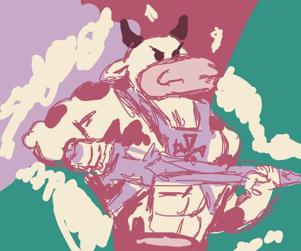 Angry he-cow