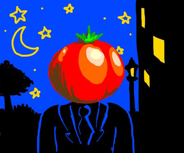 Tomato head at night