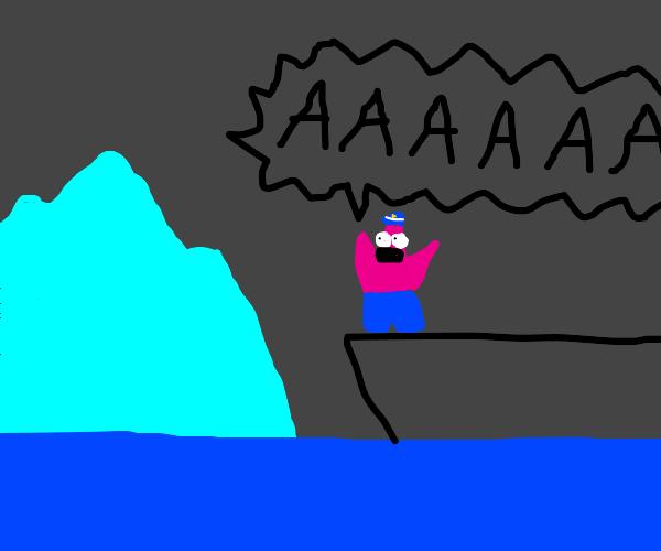 Captain Patrick! That's an iceberg!