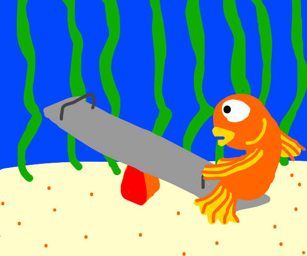 Fish on a teeter-totter