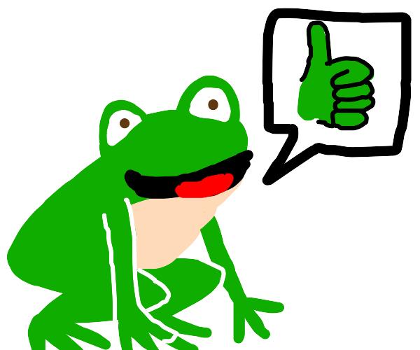 """A frog saying """"YEAAAAAAAAAAAA"""""""