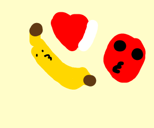 Apple and banana are in love