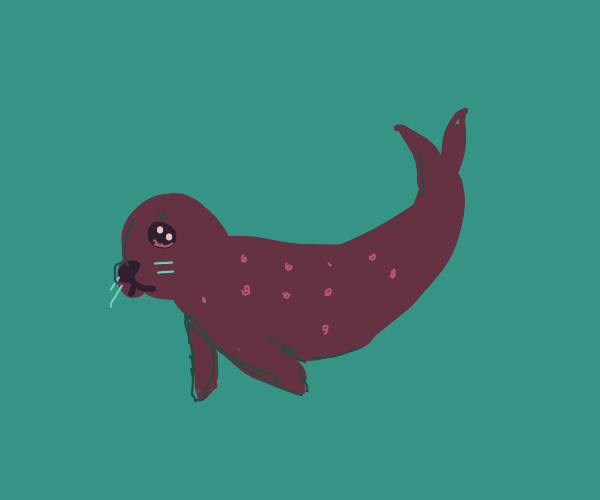 Seal with pink spots