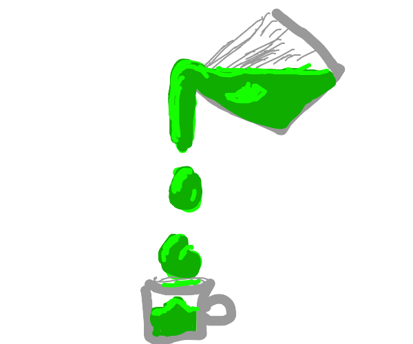Pouring drops of a viscous fluid into a cup