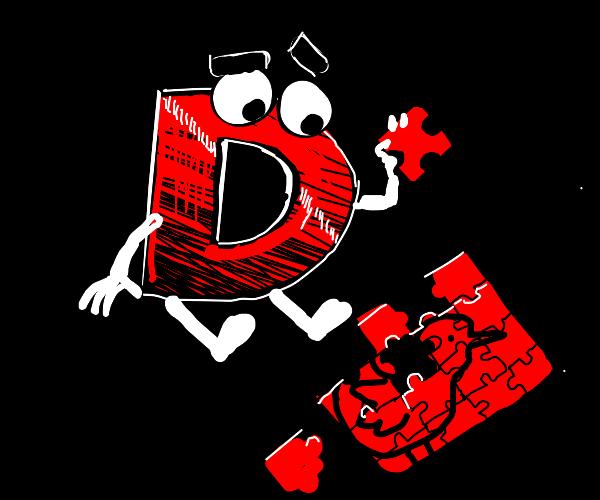 drawception guy doing puzzle.