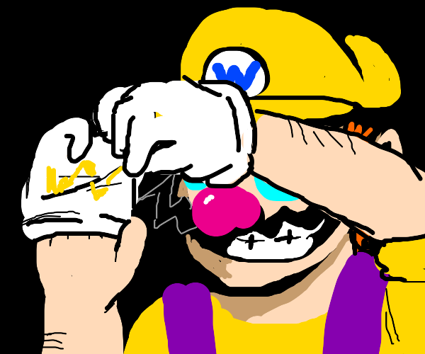 wario takes off his gloves