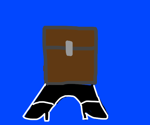 minecraft chest with mettaton legs