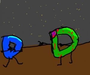 Drawception D as a zombie