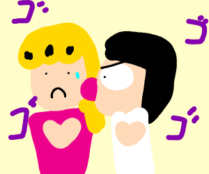 Giorno gets licked by that one guy in jjba